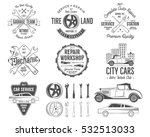 vintage car service badges ... | Shutterstock . vector #532513033