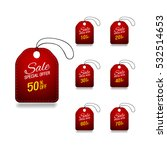 dark red glass sale labels set. | Shutterstock .eps vector #532514653