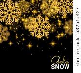 random falling gold snowflakes... | Shutterstock .eps vector #532515427