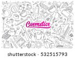 hand drawn set of cosmetics... | Shutterstock .eps vector #532515793