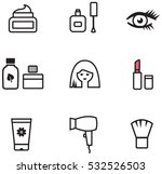 cosmetics line icons | Shutterstock .eps vector #532526503