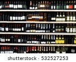 shelves with alcohol bottles in ... | Shutterstock . vector #532527253
