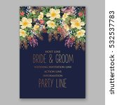 wedding invitation floral... | Shutterstock .eps vector #532537783