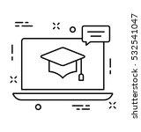 e learning vector icon | Shutterstock .eps vector #532541047
