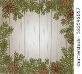 vector wooden background with... | Shutterstock .eps vector #532543057
