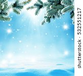 christmas background with fir... | Shutterstock . vector #532551217