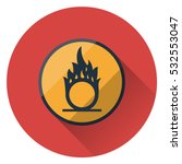 warning sign. oxidizing. flat... | Shutterstock .eps vector #532553047