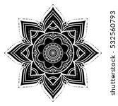 black hand drawn decorative... | Shutterstock . vector #532560793