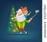 modern style santa claus with... | Shutterstock .eps vector #532577047