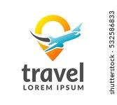 air travel logo template.... | Shutterstock .eps vector #532586833