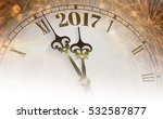 2017 new year clock counting... | Shutterstock . vector #532587877