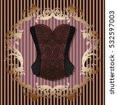 Lace Black Brown Vintage Corse...