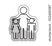 family parents silhouette... | Shutterstock .eps vector #532600387