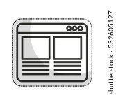 web page template isolated icon ...