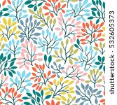 vector seamless pattern with... | Shutterstock .eps vector #532605373