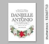 christmas party invitation with ... | Shutterstock .eps vector #532607713