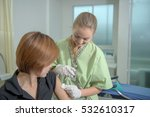 close up hands nurses are... | Shutterstock . vector #532610317