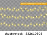 christmas lights isolated... | Shutterstock .eps vector #532610803
