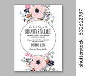 wedding invitation floral...   Shutterstock .eps vector #532612987