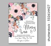 wedding invitation floral... | Shutterstock .eps vector #532614427
