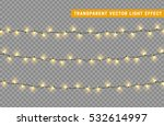 christmas lights isolated... | Shutterstock .eps vector #532614997