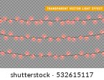 christmas lights isolated... | Shutterstock .eps vector #532615117
