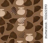 seamless sea pattern  halftone .... | Shutterstock .eps vector #532622593