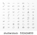 isolated vector hand drawn... | Shutterstock .eps vector #532626853