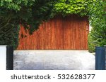 wooden door from the garage and ... | Shutterstock . vector #532628377