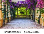 antique columns with colorful... | Shutterstock . vector #532628383