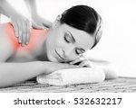 healthy beautiful woman spa.... | Shutterstock . vector #532632217