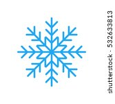 blue snowflake flat icon. snow...   Shutterstock .eps vector #532633813