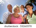 group of smiling senior men and ... | Shutterstock . vector #53263570
