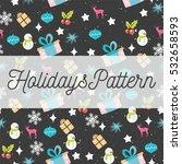 vector holidays seamless... | Shutterstock .eps vector #532658593