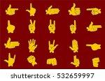 set of hands in different... | Shutterstock .eps vector #532659997