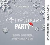 christmas party invitation... | Shutterstock .eps vector #532672243