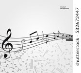 vector music  background ... | Shutterstock .eps vector #532672447