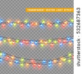 christmas lights isolated... | Shutterstock .eps vector #532687363