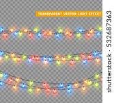 christmas lights isolated... | Shutterstock .eps vector #532687363