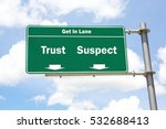 green overhead road sign with... | Shutterstock . vector #532688413