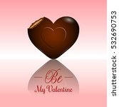 valentine's day card with a... | Shutterstock .eps vector #532690753