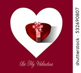 colored valentine's day card... | Shutterstock .eps vector #532690807