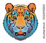 tiger head | Shutterstock .eps vector #532693003