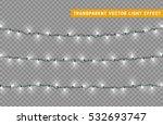 christmas lights isolated... | Shutterstock .eps vector #532693747