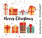 christmas background with gift... | Shutterstock .eps vector #532696687
