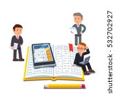 little business accountants... | Shutterstock .eps vector #532702927