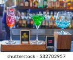 cocktail bar and glasses of... | Shutterstock . vector #532702957