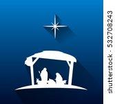 colored manger for christmas... | Shutterstock .eps vector #532708243