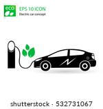 electric car icon separated on... | Shutterstock .eps vector #532731067