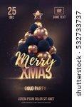 christmas poster or flyer... | Shutterstock .eps vector #532733737